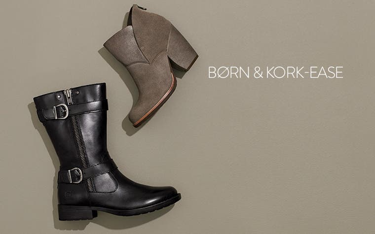 Børn and Kork-Ease comfort booties.