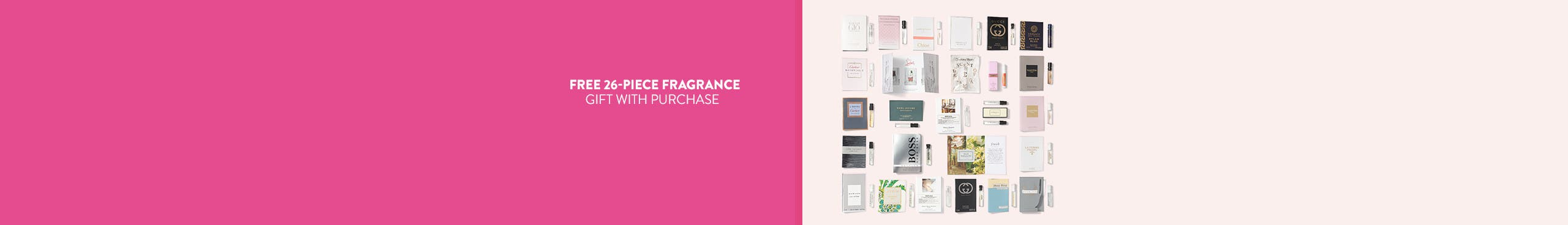 Free gift with $85 women's or men's fragrance purchase.