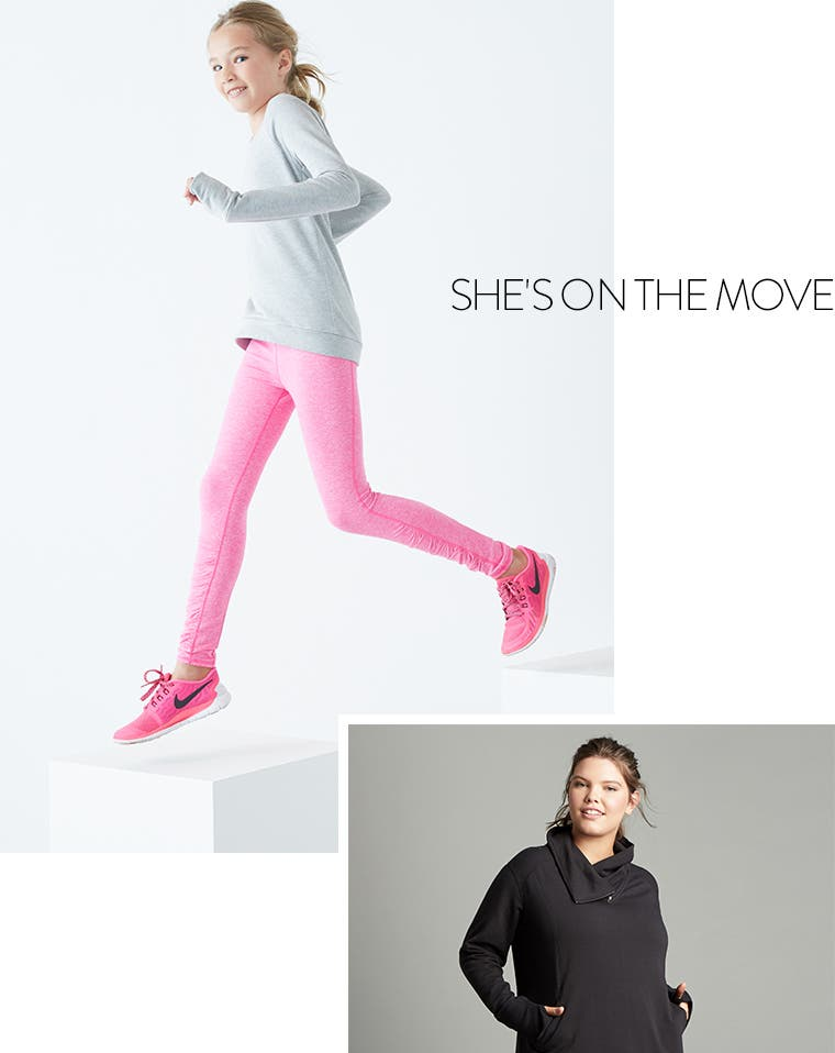 She's on the move: Zella girls' clothing.