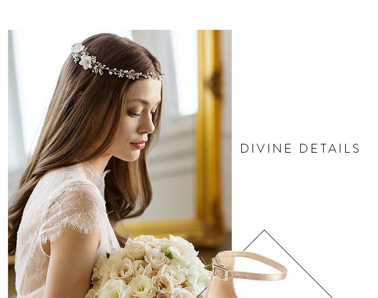 Divine details: wedding accessories.