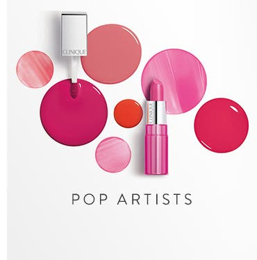 Pop artists: Clinique lips.