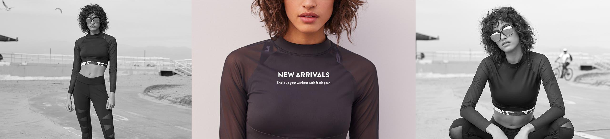 New arrivals in activewear.