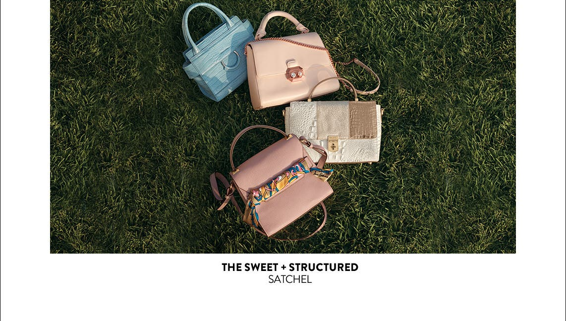 The sweet and structured satchel.