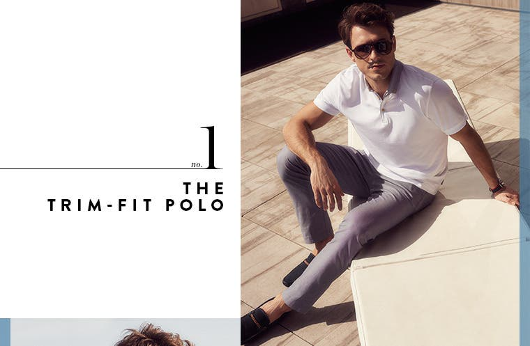 1: the trim-fit polo.