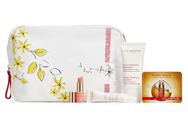 Receive a free 5-piece bonus gift with your $75 Clarins purchase