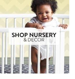 Nursery essentials and decor.