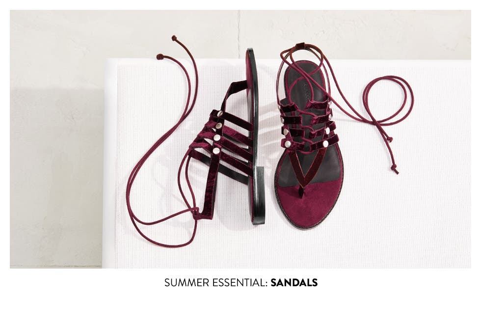Summer essentials: sandals.