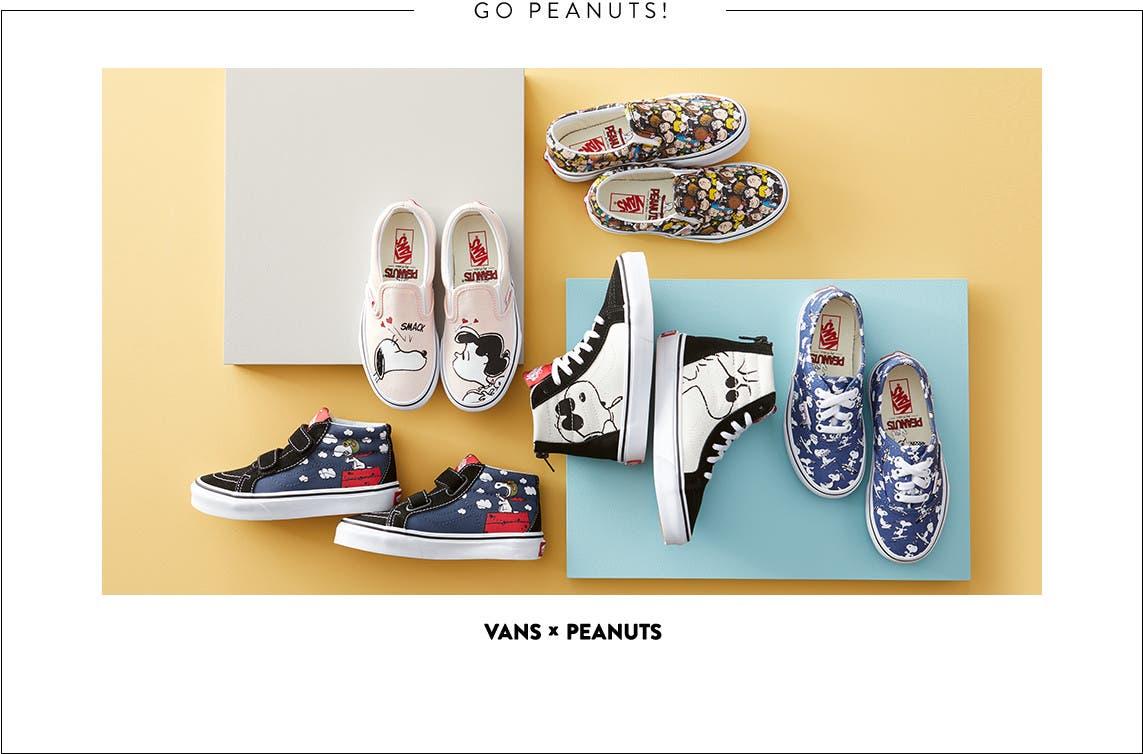 Vans x Peanuts shoes for kids.