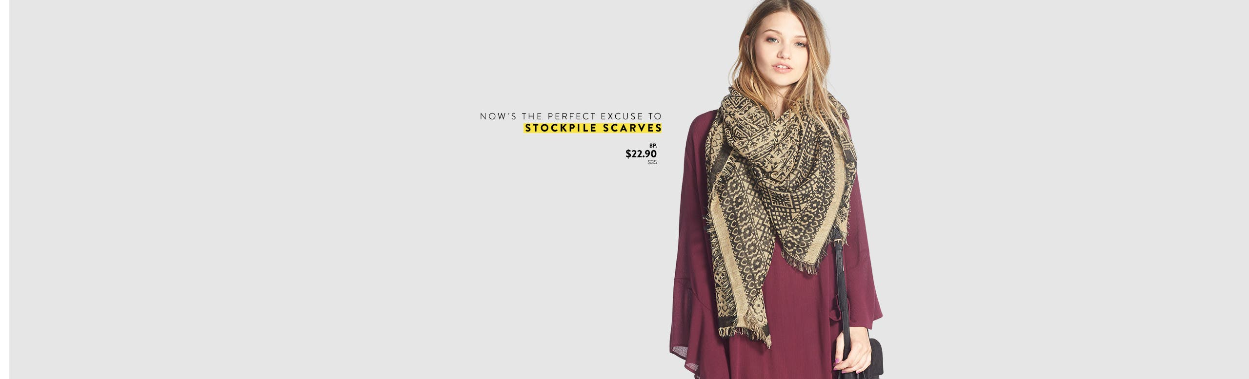 Anniversary Sale: now's the perfect excuse to stockpile scarves and bags.