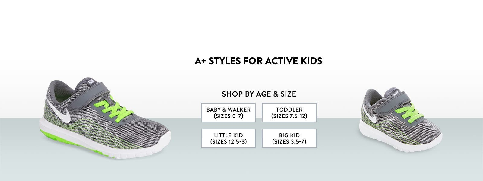 A+ styles for active kids from Nike.