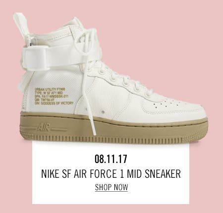 Nordstrom x Nike: new and hot Nike SF Air Force 1 Mid Sneaker.