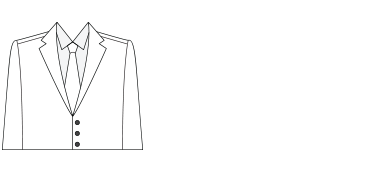 Structured suit silhouette illustration.
