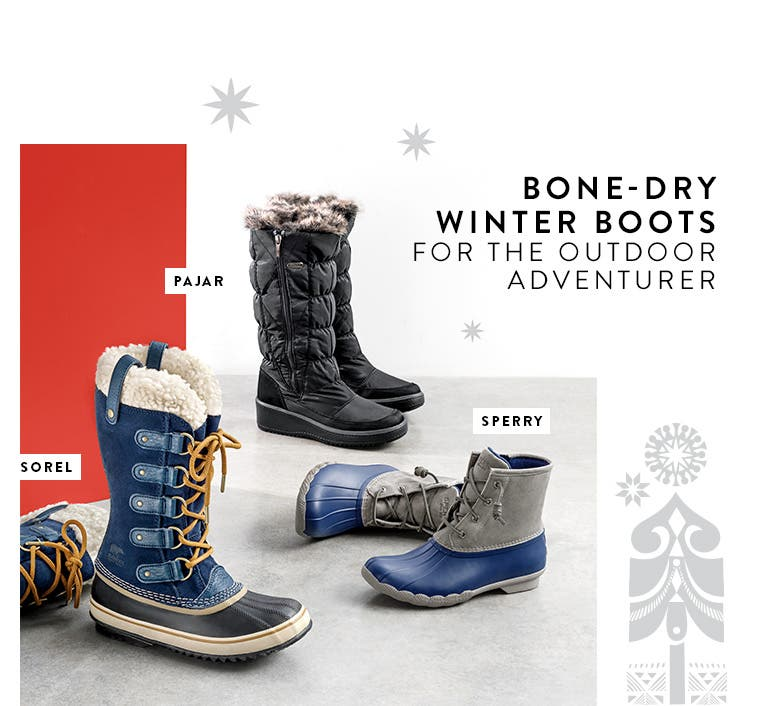 Women's rain and cold-weather boots from SOREL and more.