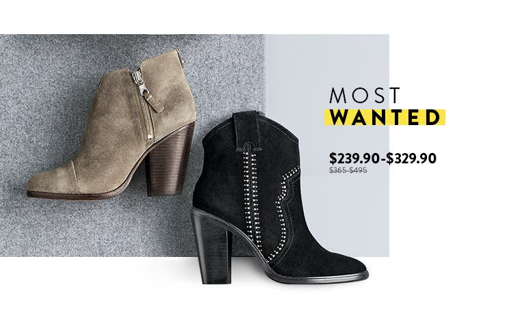 Most Wanted: Anniversary Sale booties from top brands.