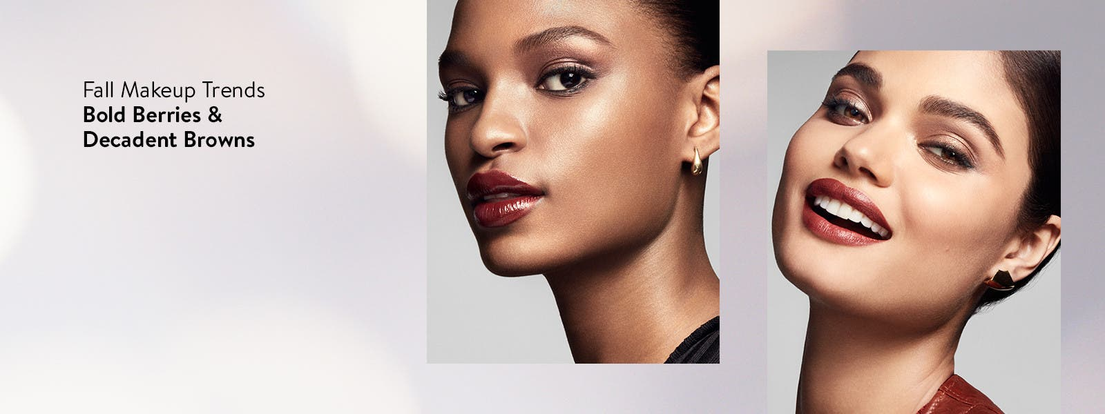 Fall makeup trends: bold berries and decadent browns.