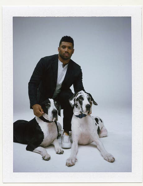 Russell Wilson (and His Great Danes)