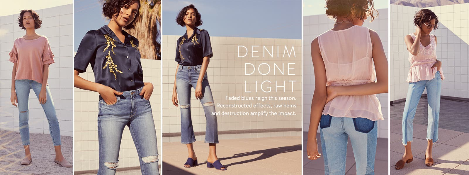 Denim done light.