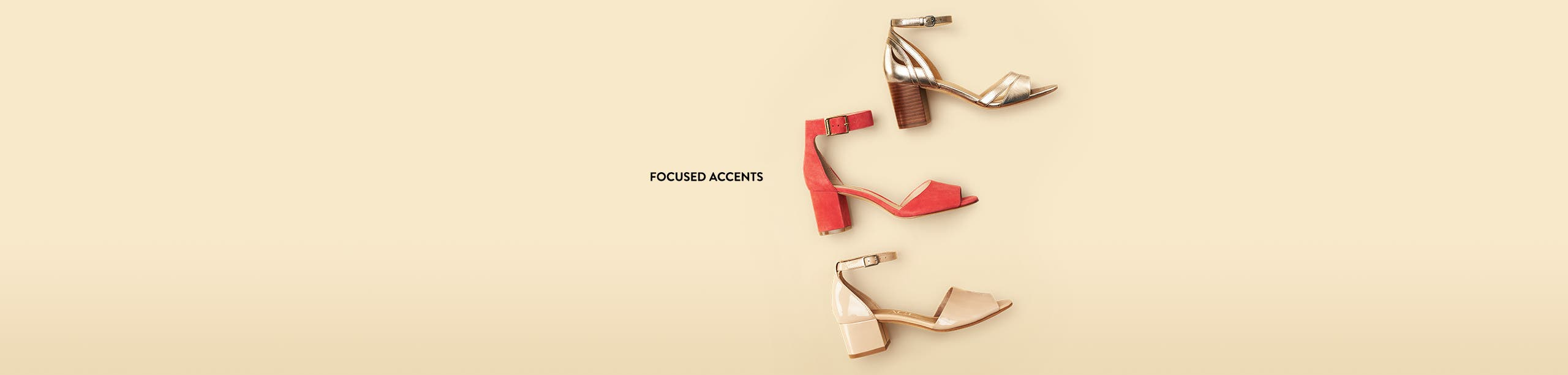 Focused accents.
