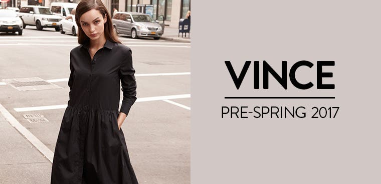 Vince Pre-Spring 2017 collection for women.