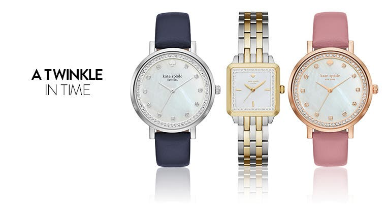 A twinkle in time: kate spade new york women's jeweled watches.