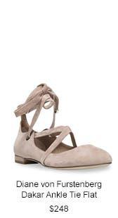 Diane von Furstenberg Dakar Ankle Tie Flat.