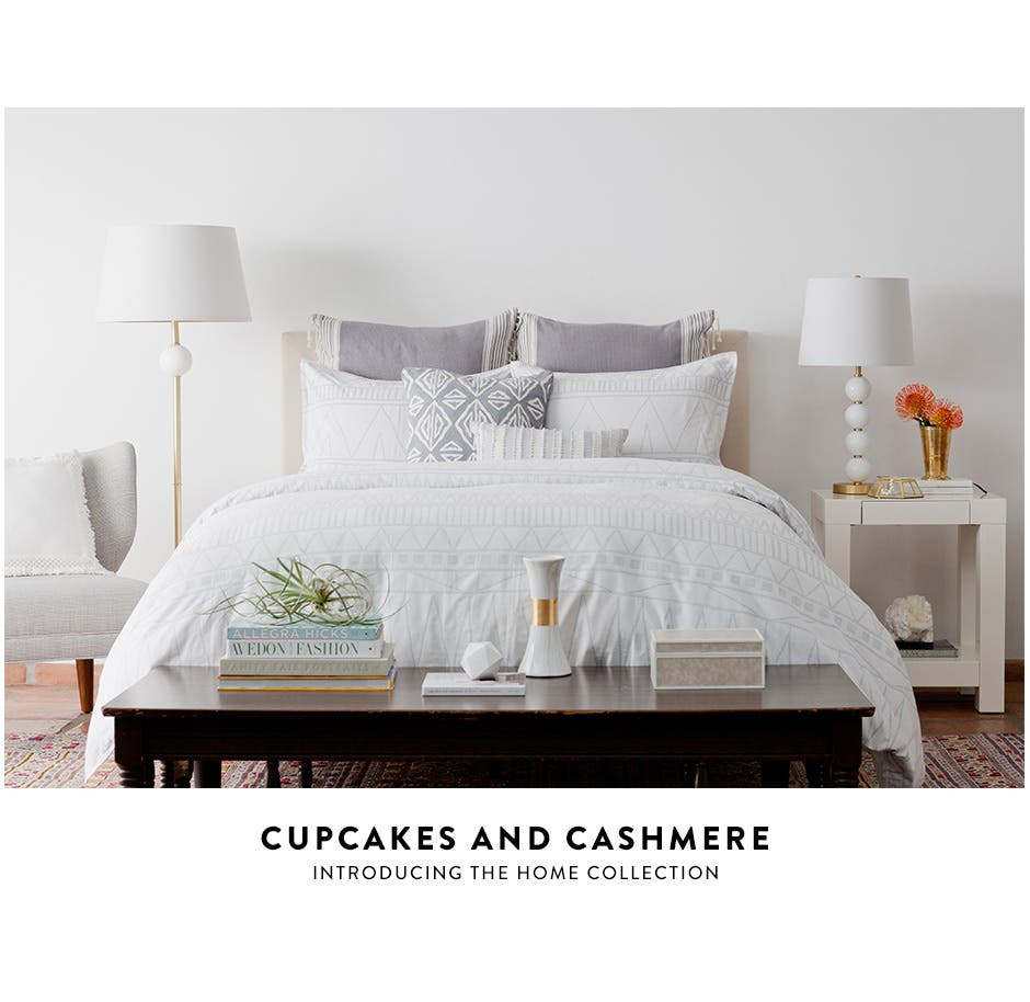Introducing the cupcakes and cashmere home collection.