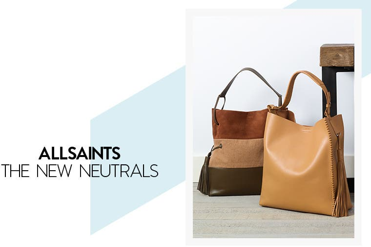 All Saints contemporary handbags.