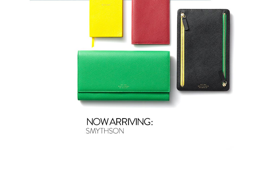 Smythson leather goods.