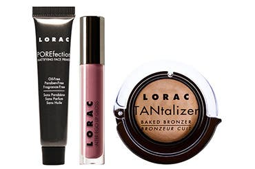 Receive a free 3-piece bonus gift with your $50 Lorac purchase