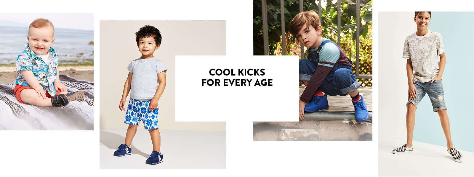 New summer sneakers, slip-ons and sandals for boys.