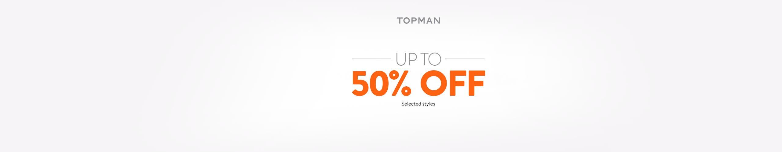 Topman sale.