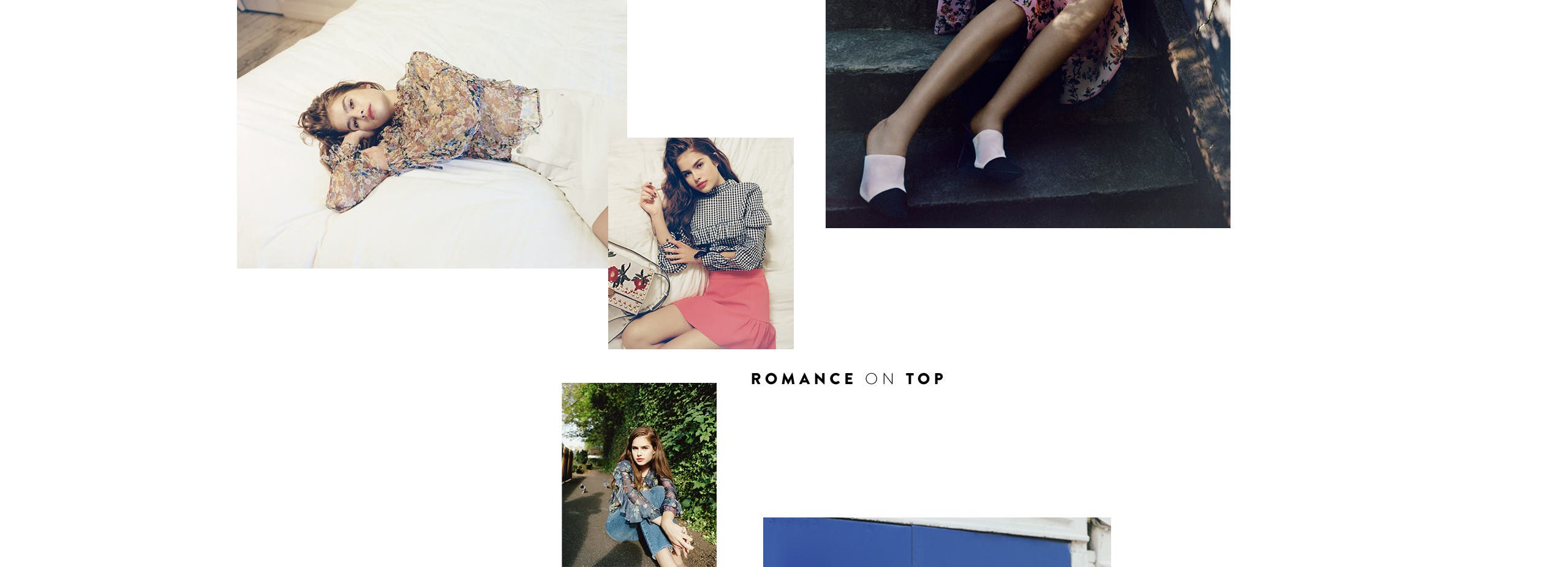 Romance on top: Topshop tees and blouses.