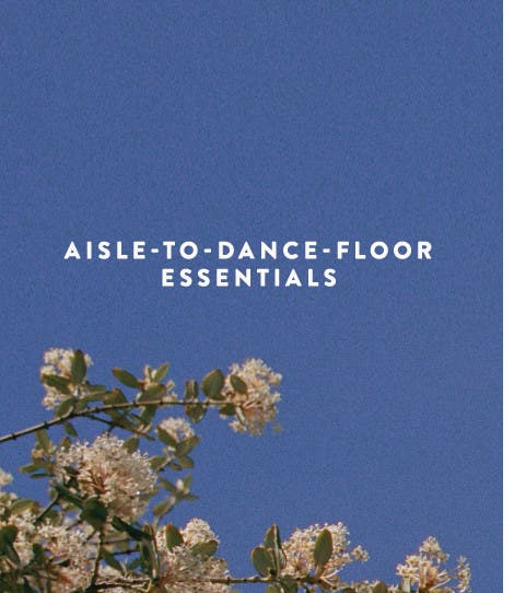 Aisle-to-dance-floor shoe essentials.
