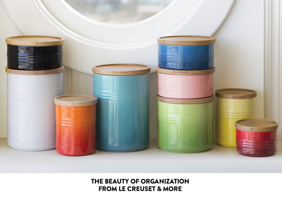 Storage canisters from Le Creuset and more.