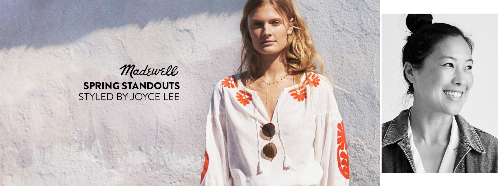 Madewell spring standouts styled by Joyce Lee.