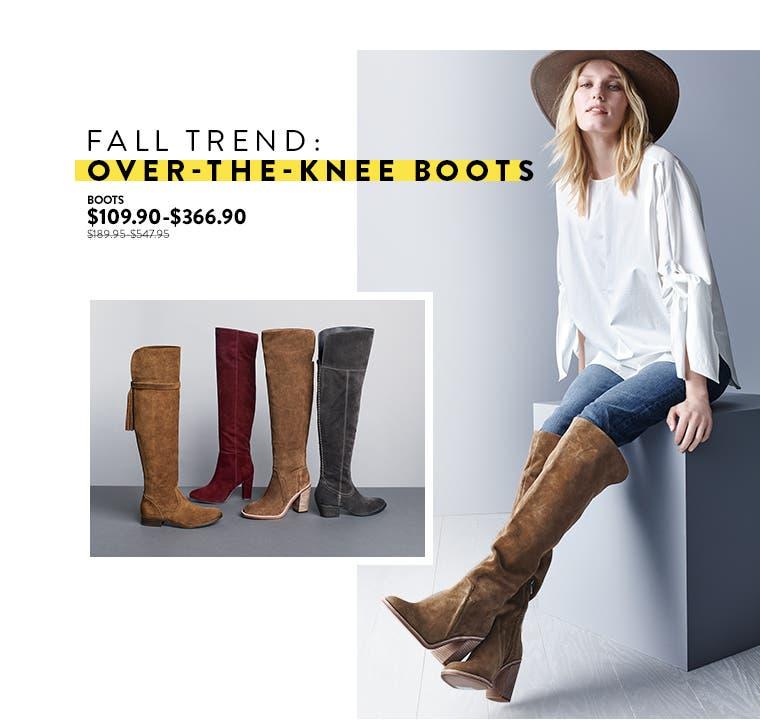 Anniversary Sale Trending Now: women's over-the-knee boots.