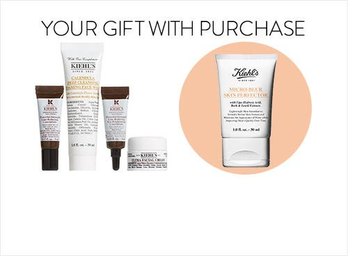 Receive a free 4piece bonus gift with your $85 Kiehl's purchase