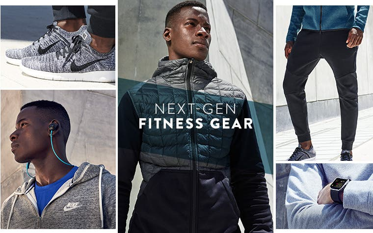 Next-gen fitness clothing, shoes and accessories for men.