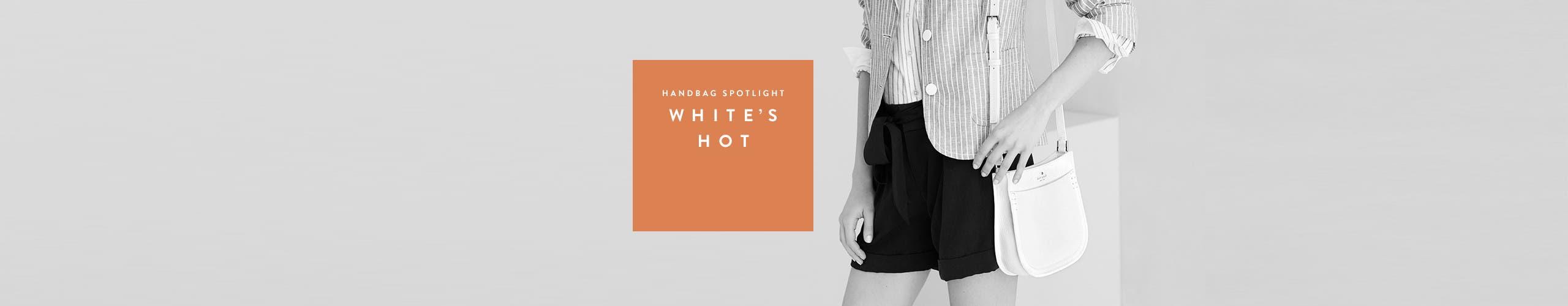 Handbag Spotlight: white's hot. The white handbag trend.