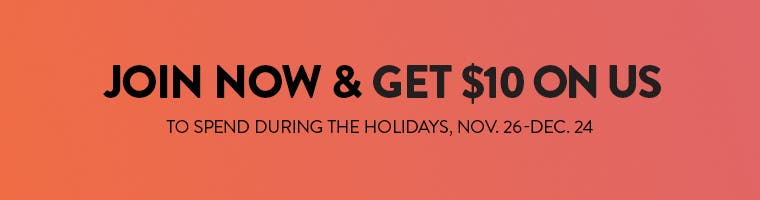 Nordstrom Rewards. Join now & get $10 on us to spend during the holidays, Nov. 26-Dec. 24.