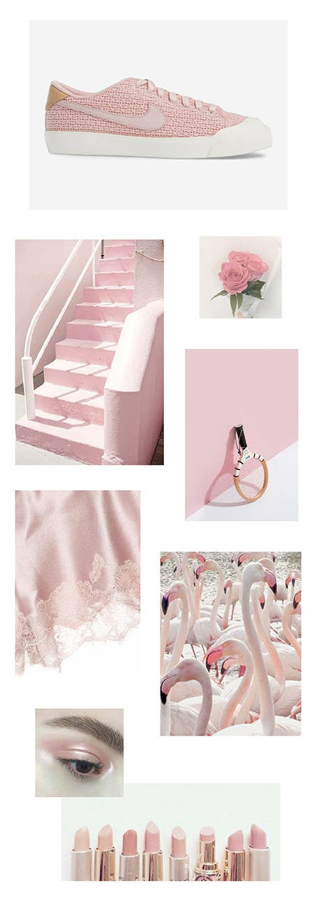 Nordstrom x Nike mood board: strawberry milkshake.
