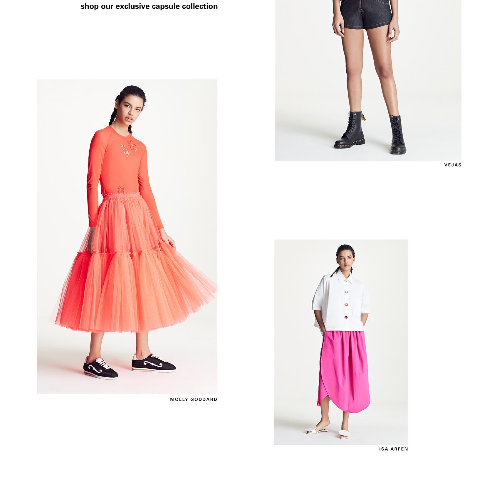 Hot town, summer in the city: an exclusive SPACE summer collection by Molly Goddard, Vejas, Marques'Almeida and more.