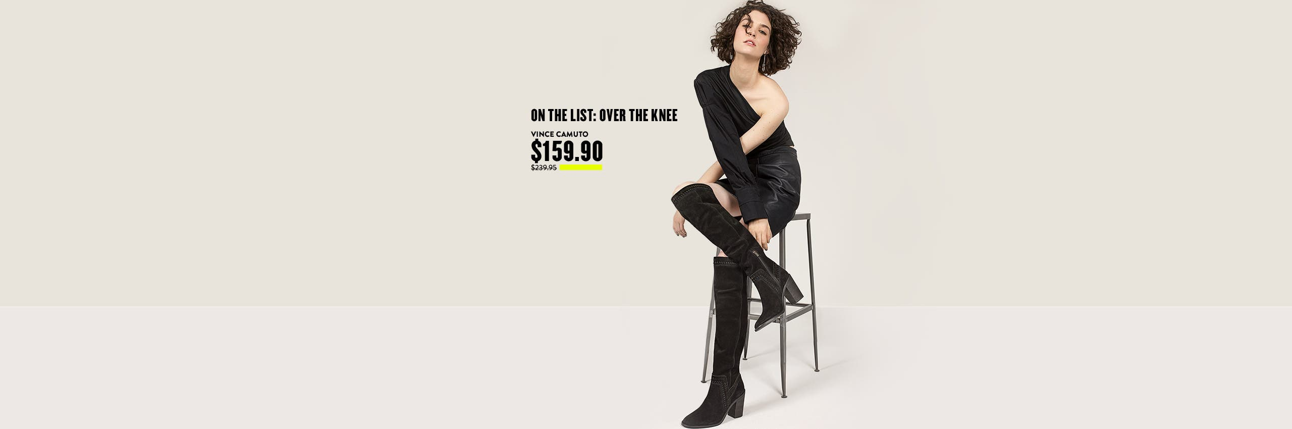 On the Anniversary Sale list: over-the-knee boots.