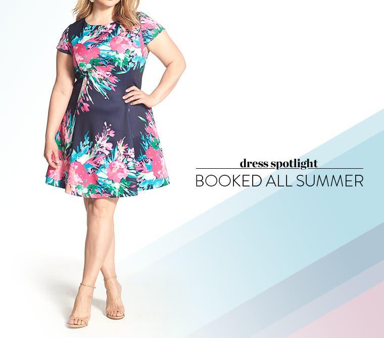Booked all summer: plus-size dresses.