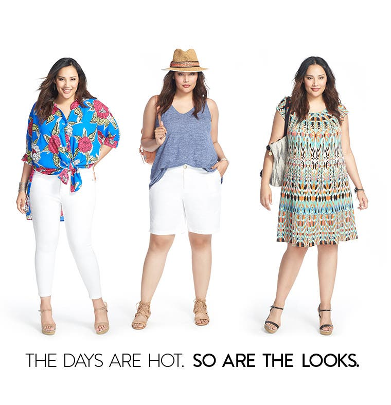 The days are hot. So are the plus-size looks.