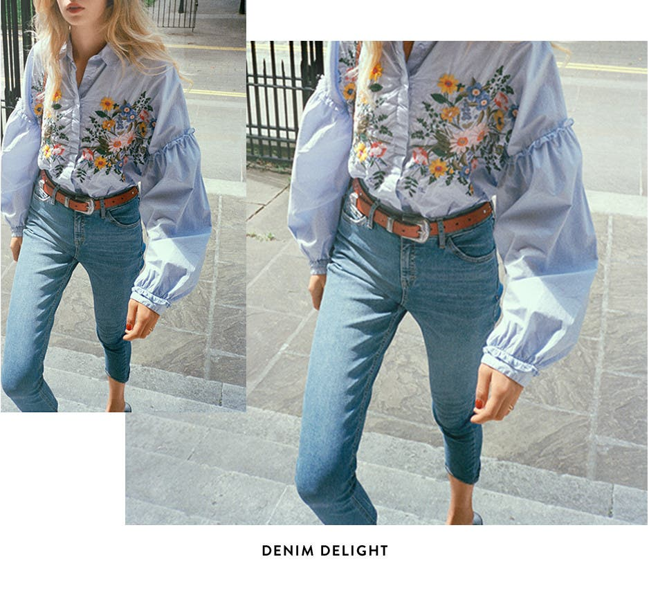 Denim delight: Topshop jeans.