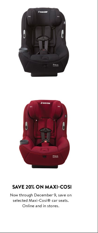 Save 20% on selected Maxi-Cosi car seats.