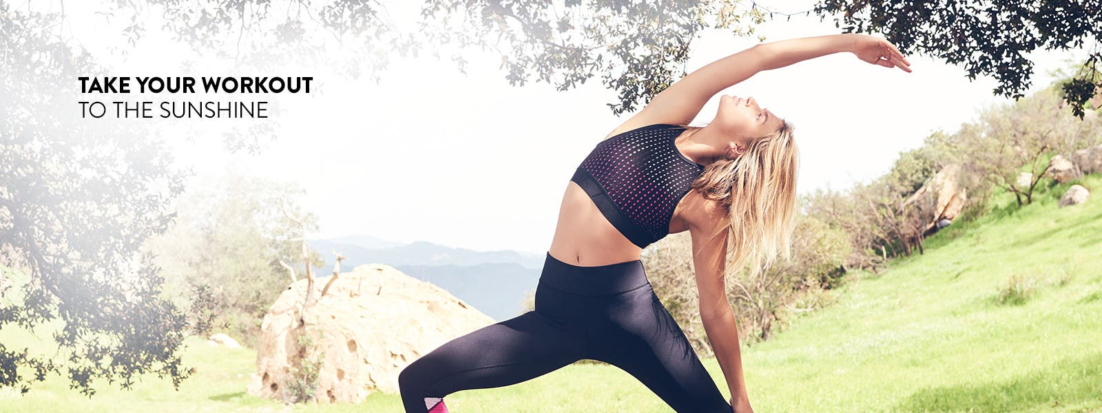 Take your workout to the sunshine.