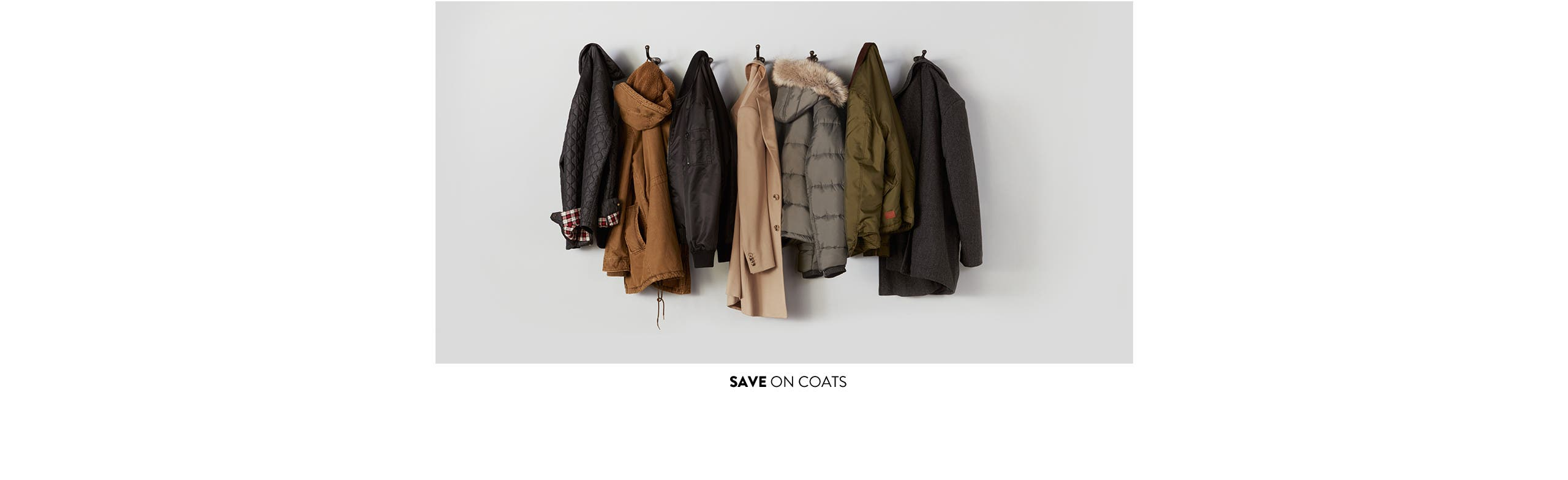 Save on coats for women, men and kids.