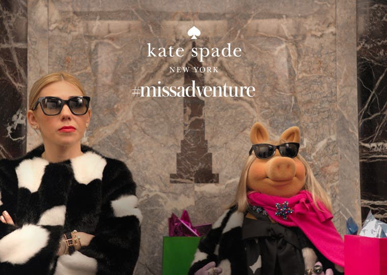 The kate spade new york holiday collection: #missadventure.